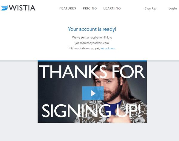 Wistia thank you