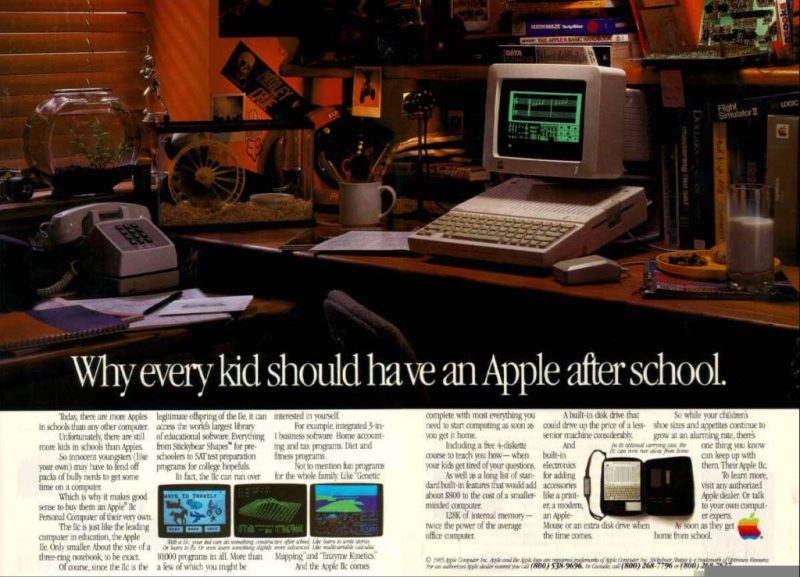 Apple copywriting in ad