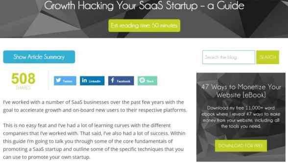 Growth Hacking SaaS guide