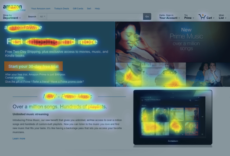Eyequant attention mapping click tracking