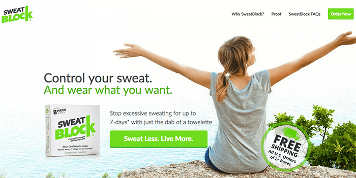 Sweatblock home page optimization