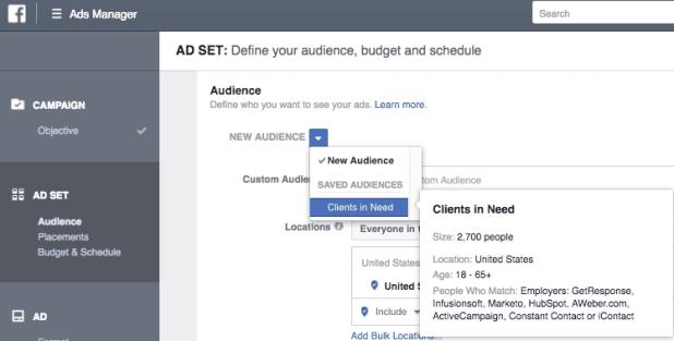 Ad targeting in Facebook