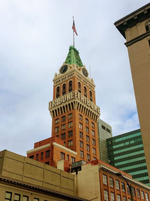A photo of historic Tribune Tower in Downtown Oakland captured while attending National Seminars Training Two-Day Copywriter's Workshop