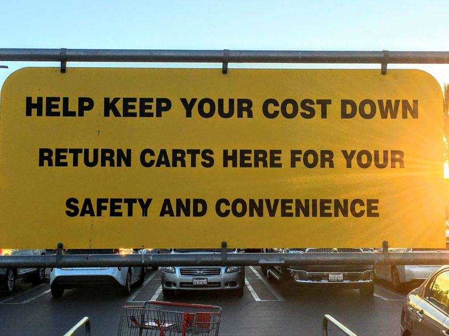 Fear Appeal at the Costco Cart Return