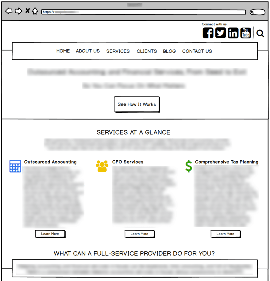 Example of a Wireframe Mockup