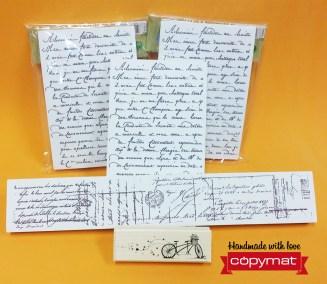 segells texte escrit copymat rubi