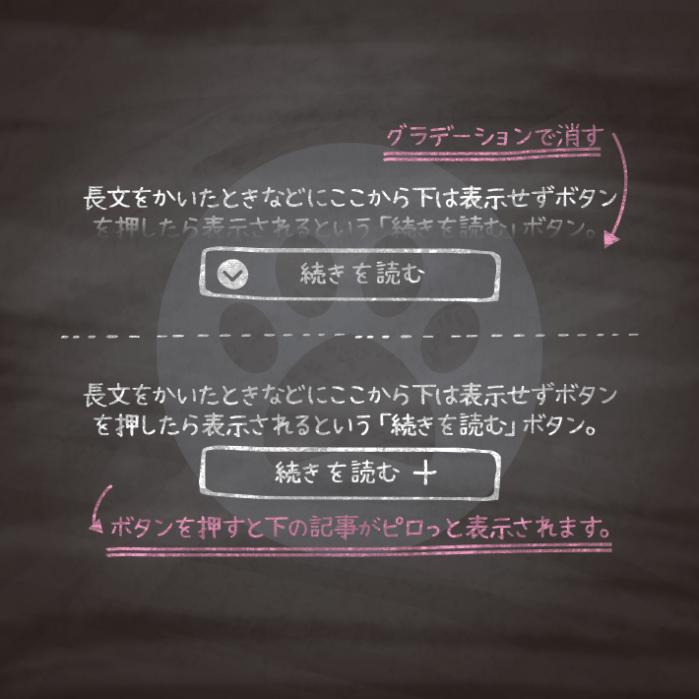 コピペでできる!CSSとhtmlのみで作る「続きを読む」の開閉ボタン