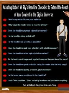 Robert W. Bly's Headline Checklist Infographic