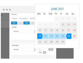 Social Kickstart Improved Scheduling