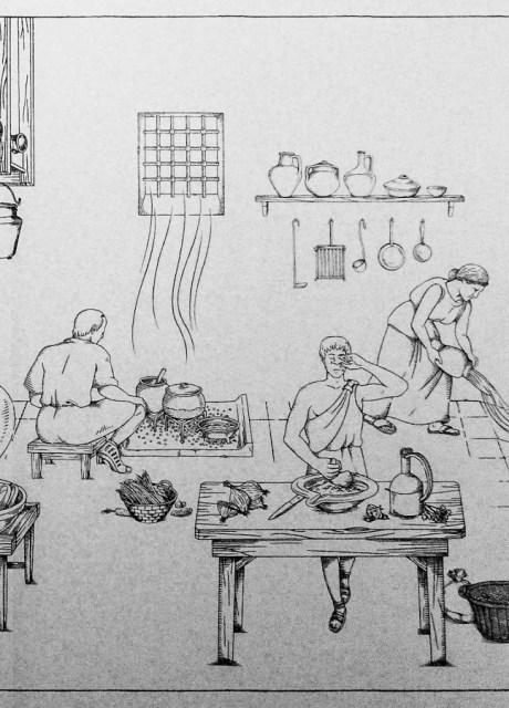 Imagen de posible reconstruccción de cocina Romana en Caesar Augusta