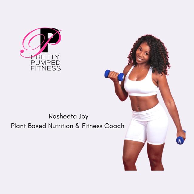 Rasheeta Joy of Pretty Pumped Fitness photo for portfolio