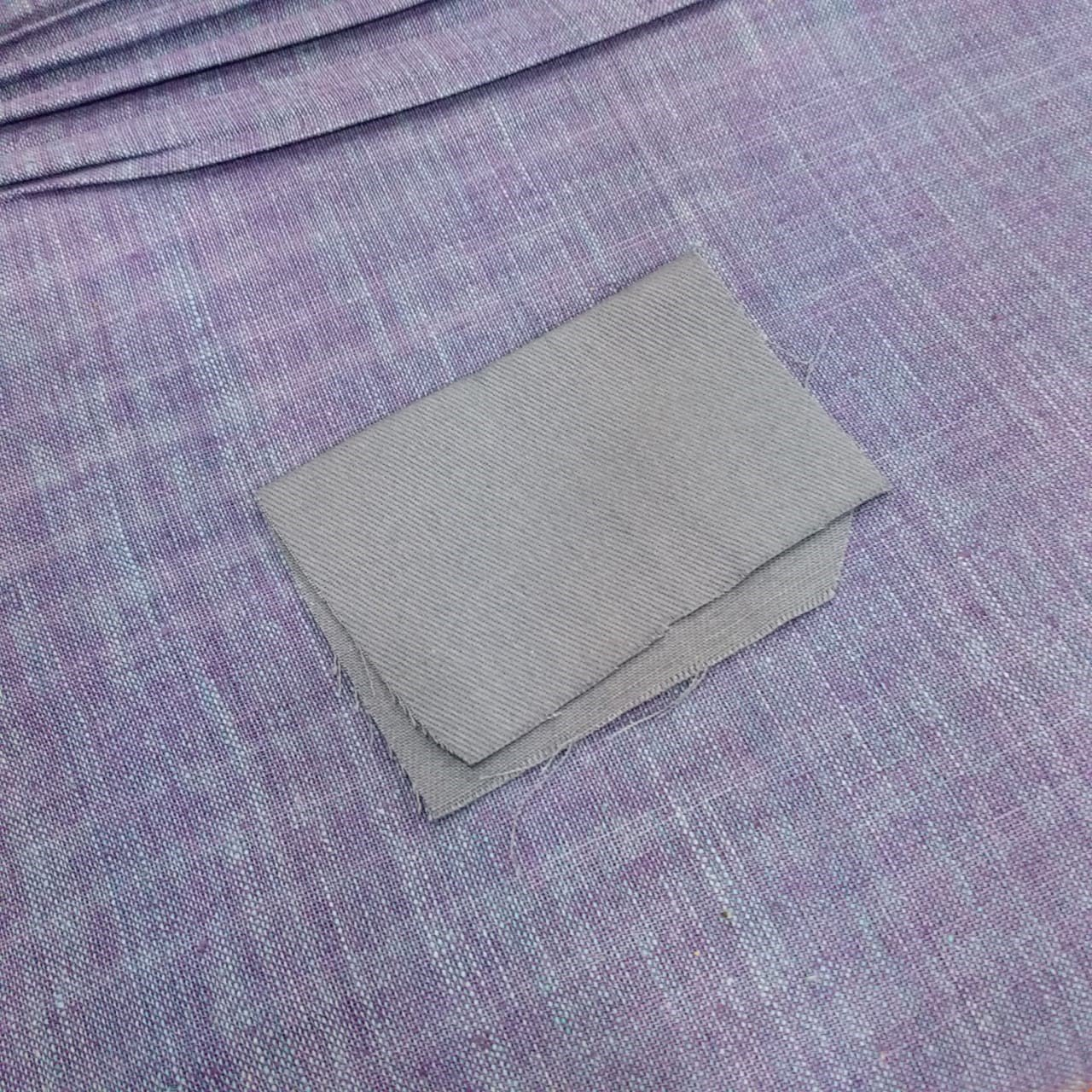 Cotton Khadi with machine woven canvas