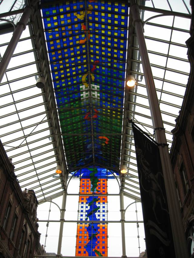Shopping arcade in Leeds