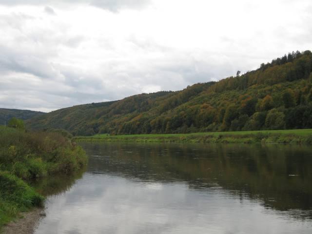 View along the River Weser at Lippoldsberg