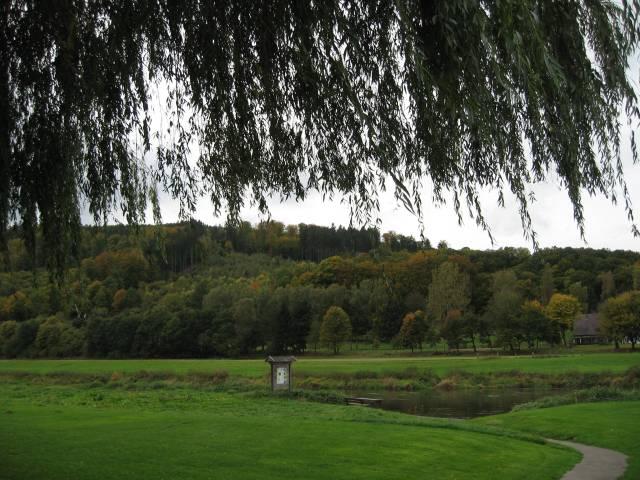 View across the Weser near Lippoldsberg