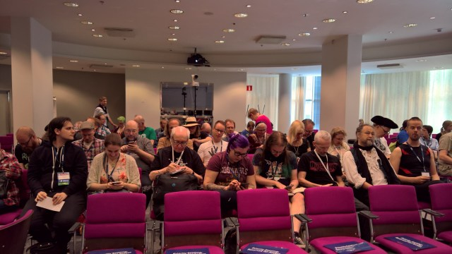 Panel audience WorldCon 75