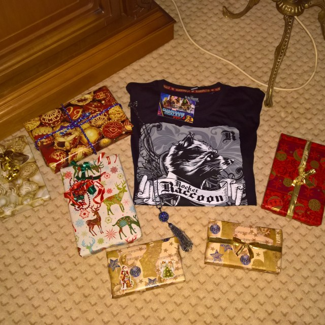 Christmas presents wrapped
