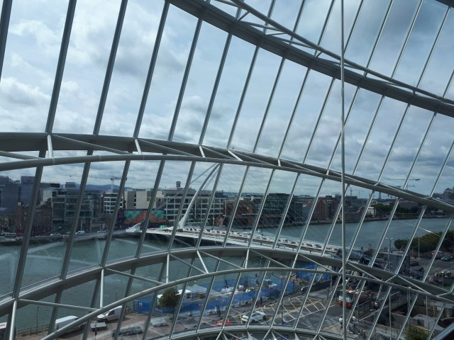 Samuel Beckett Bridge viewed from CCD