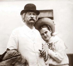 Mark Twain and Dorothy Quick in 1907