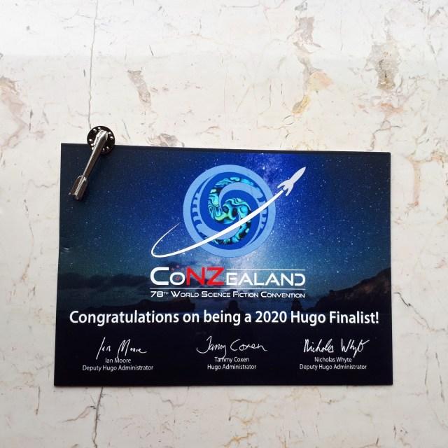 Hugo finalist pin