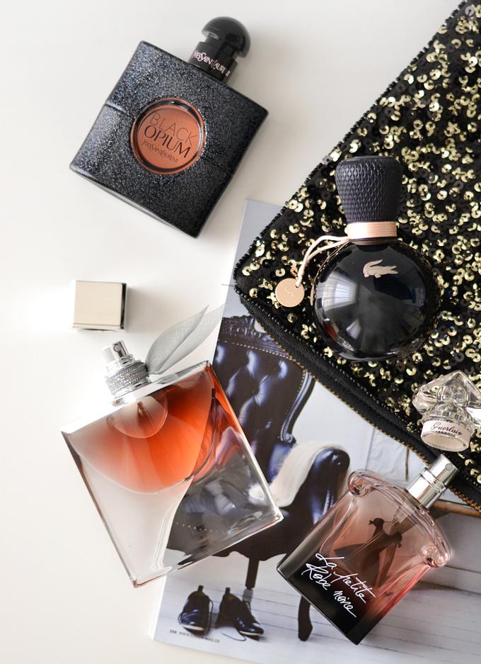 Herbstdüfte YSL Black Opium Lancome La Vie Est Belle LAbsolue Guerlain La Petite Robe Noir Lacoste Sensuelle