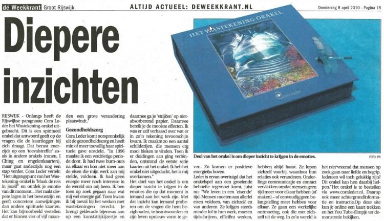 deweekkrant.nl Diepere inzichten Cora Leder