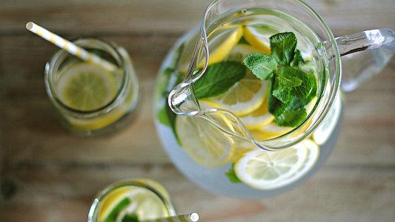 Лимонно-мятная витаминная вода
