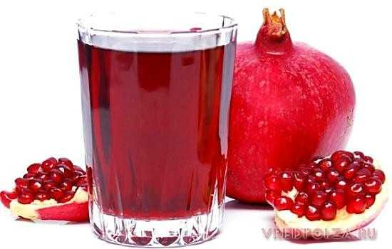 Гранатовый сок – низкокалорийный, диетический продукт, источник калия и железа