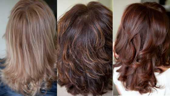 Разные варианты брондирующего окрашивания для темноволосых