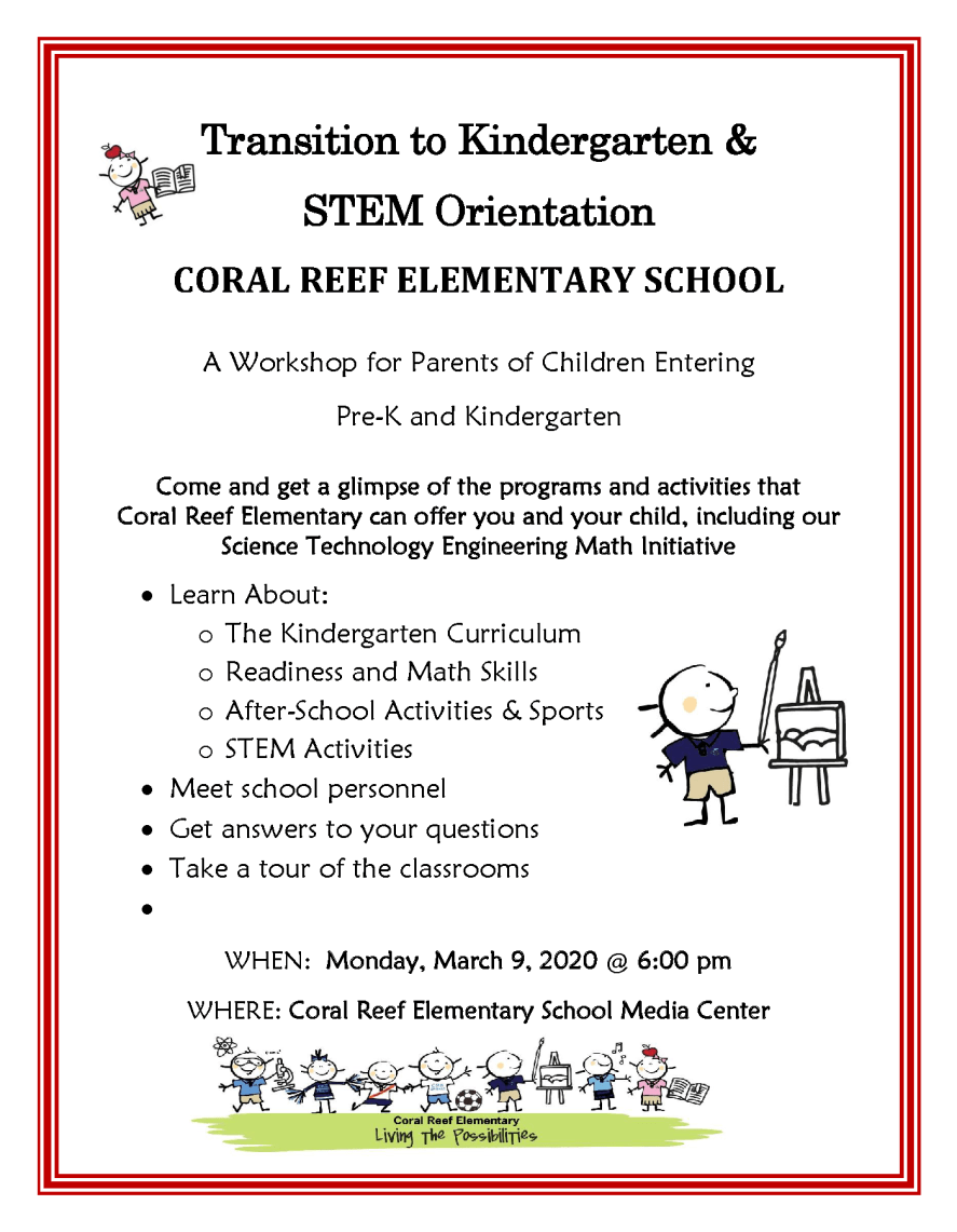 Kindergarten Orientation Flyer