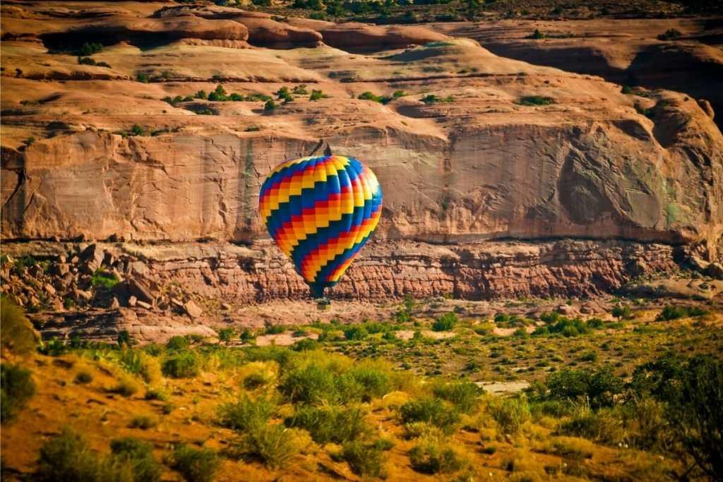 Hot air balloon and music festival