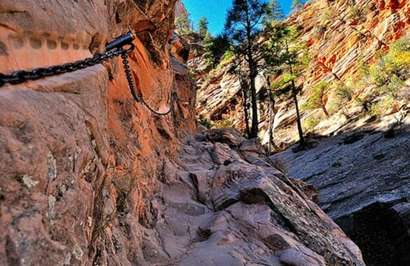 Hidden Canyon Trail in Zion National Park