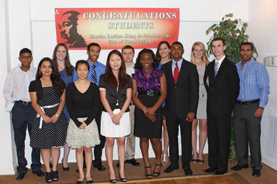 Coral Springs High School Seniors Receive Martin Luther King, Jr. Scholarships