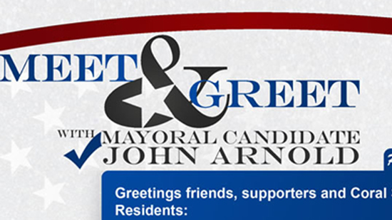 Meet and Greet Mayoral Candidate on August 30 at The Melting Pot