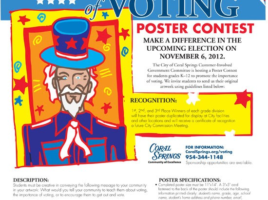 The City of Coral Springs Holds Voting Poster Contest for Local Kids
