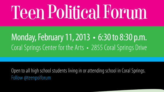 Coral Springs Hosts Sixth Annual Teen Political Forum