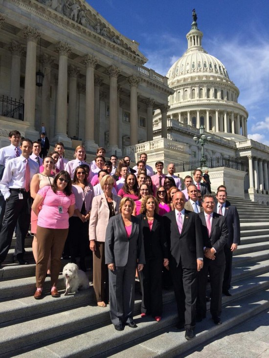 Pink Shirt Thursday in Support of Bob Levinson - Photo Courtesy of US Representative Debbie Wasserman Schultz