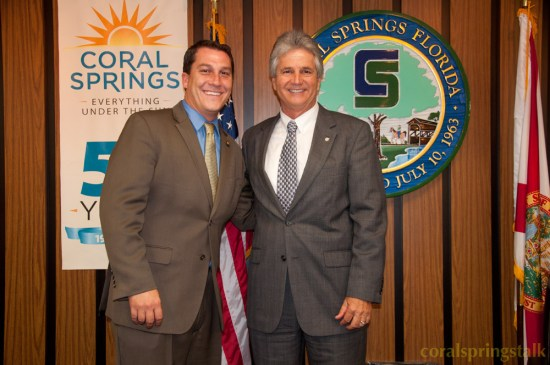 Newly Appointed Vice Mayor Larry Vignola with Mayor Vincent Boccard