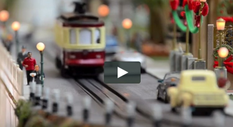 Model Train Display Perfect for Christmas Holidays