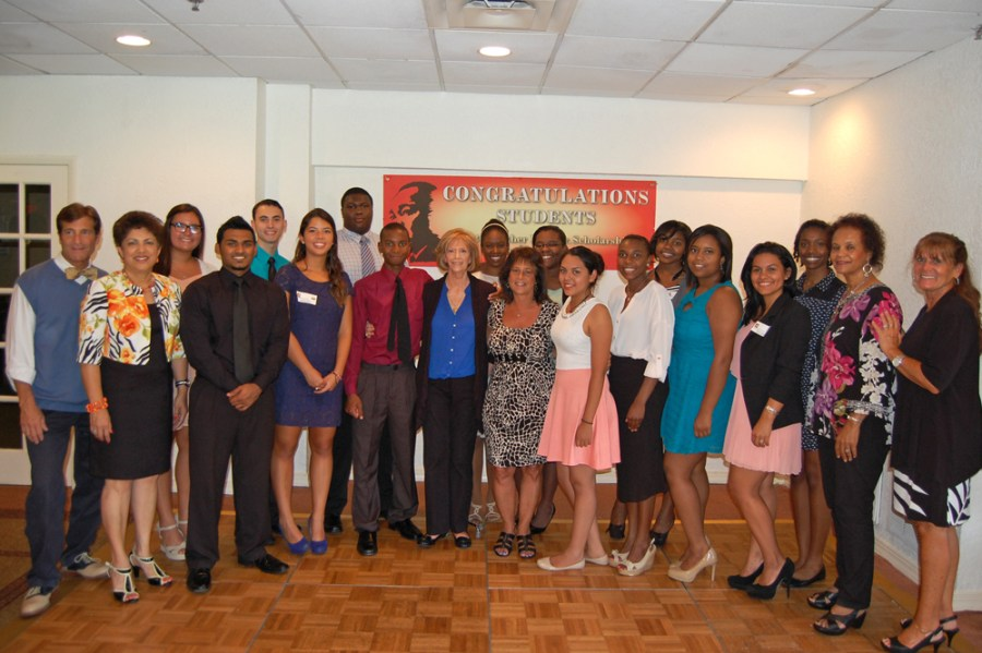 Recipients of the MLK Scholarship Awards in Coral Springs.