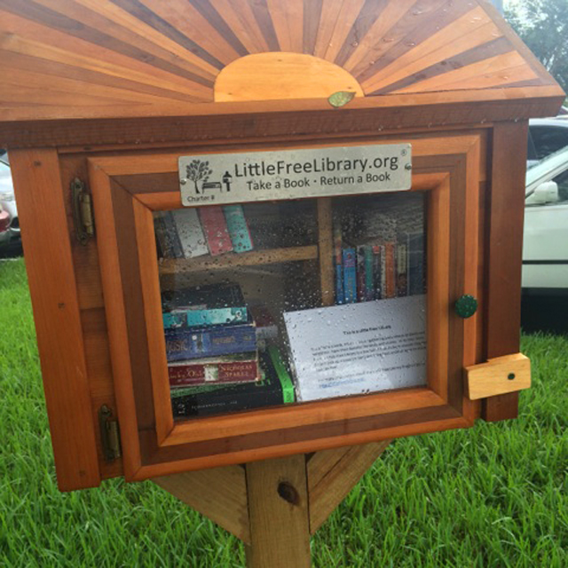 Coral Springs newest Little Free Library