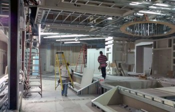 Workers building ROC Resto Lounge in Coral Springs