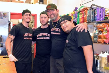 Manager Mike Simmons (third from the left) along with staff members at Laspada's Coral Springs