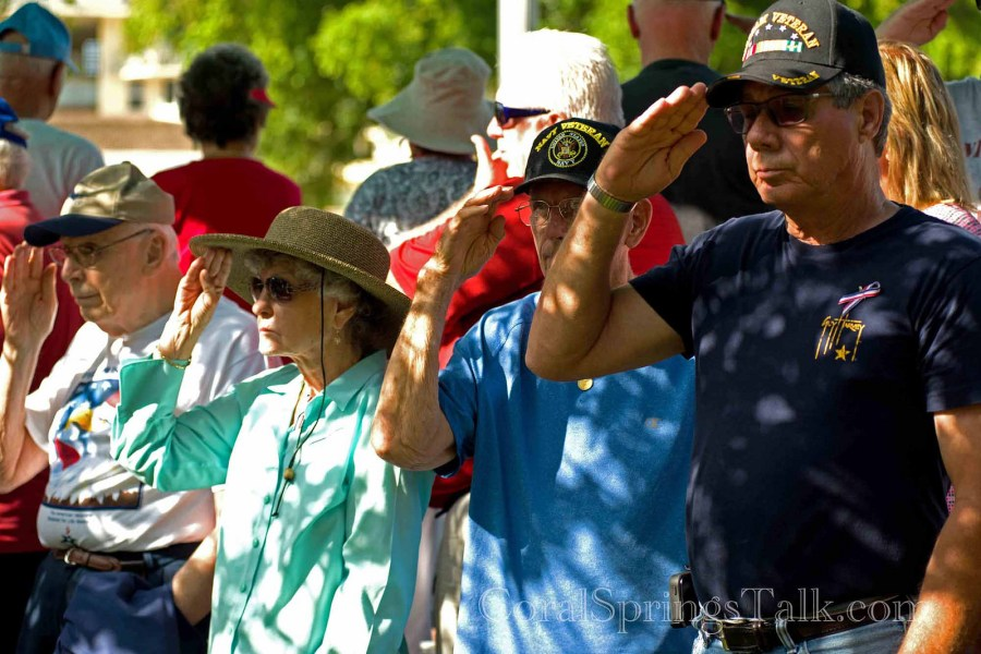 Memorial Day Ceremony at Veteran's Park