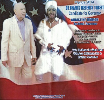 Campaign flyer for Christine Timmon for Florida Governor