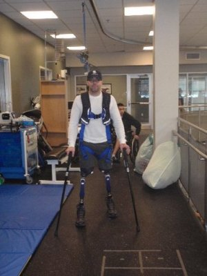 Army Special Forces Sgt. Brian Mast with his new legs, after he lost his to a blast in Afghanistan
