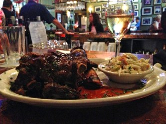 Giant Beef Ribs with Cole Slaw.  This is an appetizer!