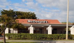 McDonald's at 7751 W Sample Rd in Coral Springs as it looks before demolition
