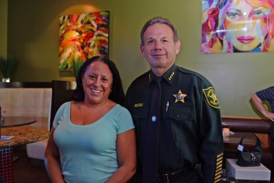Campaign Manager Amy Rose and Sheriff Scott Israel