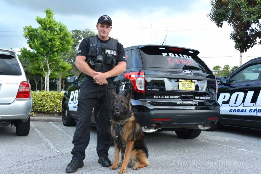 Officer Jon Banke with Thor, a three year-old Belgian Shepherd. - Photo by Sharon Aron Baron